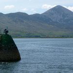 Croagh Patrick seen from the cruise boat on leaving Westport Harbour