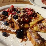Cinnamon Challah French Toast, oh my.
