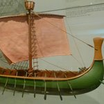 Wooden Model of Egyptian Warship, ca. 1200 BCE