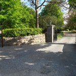 View of driveway entrance as you enter the grounds