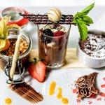 Köstliche Dessertkreationen im Restaurant