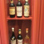 A selection of old wines & cognacs.