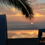 Amazing Sunsets by our infinity pool.