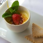Mango & White Chocolate Creme Brulee