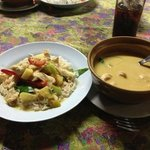 Coconut curry with chicken and SPICES!