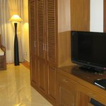 Suite: TV and cabinet space