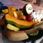 Fresh local fruit bowl