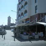 Agios Lazaros and the hotel