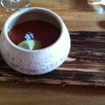 tomato soup with basil sorbet