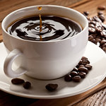 Enjoy our hot freshly brewed Italian coffee