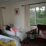 Room with twin and double bed
