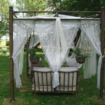 Diane sent me this picture of her updated gazebo, can't wait to lounge in it!