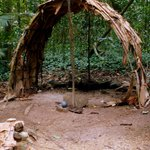 an aboriginal ceremonial hut