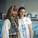 Captin Jack and Karen Pickering at Maidstone Leisure Centre
