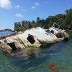 Sunken treasure off the coast of Isla Grande