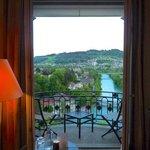 La vue depuis la chambre sur le paysage Bernoi, l'Aar et le Gurten
