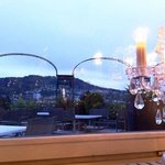 La vue depuis la salle du restaurant