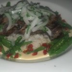 tequila lime duck breast w/ jasmine rice & sweet peas