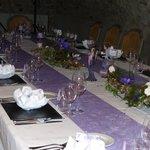 table décorée par Jean Michel