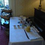breakfast set up at Garden House