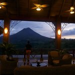 View of the volcano from the hotel