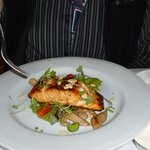 Salmon and fava beans