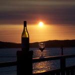 Sunset on balcony