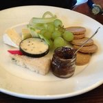 the cheese plate - an excellent way to sample the local chesses and the delicious oaties