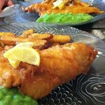 tasty beer battered fish and chips
