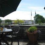 Outdoor breakfast dining area