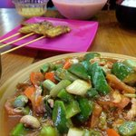 Stir-fried Sweet & Sour and Chicken Satay!