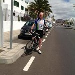Arriving back, after lovely,103km cycle.