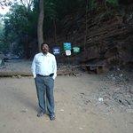 Dr Motha Prasad Rao.. Entry point  to Water Falls .. Talkona