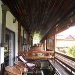 Balconies in front of each room