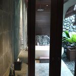 Bathroom with outdoor shower and bath