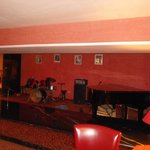 The lounge bar with live music area