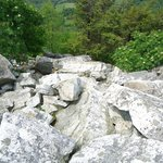Huge boulder fields are within one hiking trail. You hike around these big ones
