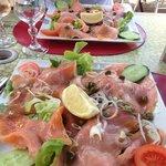 assiette copieuse saumon fume