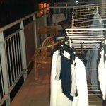 Balcony with airer