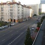 Vue de l'hôtel vers la gare, 10 mn à pieds