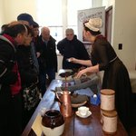 What spice do you think this is? Visitors try to identify 18th century chocolate ingredients.