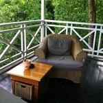 Porch of our Hilltop Coconut Cottage