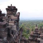 vista desde la parte alta del templo