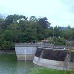 Vista a  la represa desde Cachi