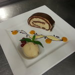 Chocolate and Caramel Roulade