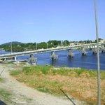 Vista da ponte que liga paranaguá e ilha dos valadares