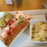 Lobster Roll with Potato Salad