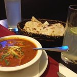 chicken masala (ginger and paprika) and naan