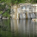 The Dorset rock quarry where kids swim in good weather