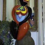 Obras de arte no Jardim do Hotel